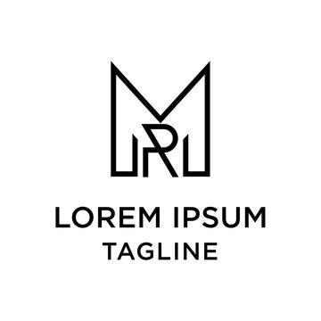 initial letter logo MR, RM logo template