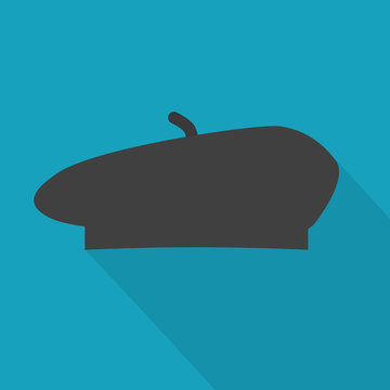 french beret icon- vector illustration