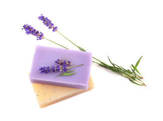 Fototapete - Lavender and homemade soaps