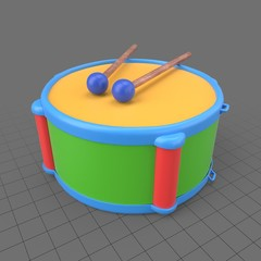 Toy drum with sticks