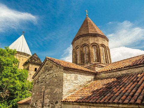 Ancient Orthodox churches of Ananuri castle complex in Georgia