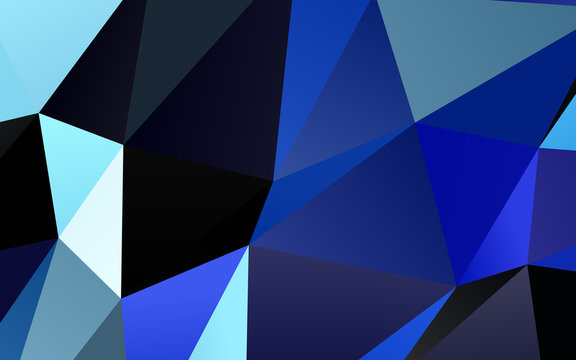 Light BLUE vector low poly texture. Brand new colorful illustration in with gradient. Brand new style for your business design.