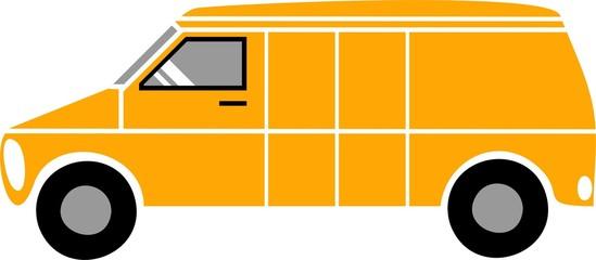 Commercial van illustration