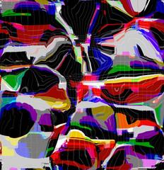 Zelfklevend Fotobehang Paradijsvogel Abstract colored pattern. Digital art