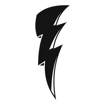 Art lightning bolt icon. Simple illustration of art lightning bolt vector icon for web design isolated on white background