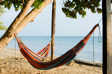 Hammock on the beach, Gulf of Morrosquillo, Sucre