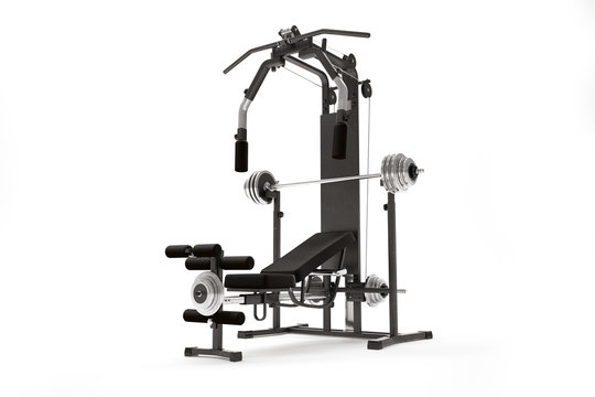 Gym machine isolated on white. 3d render