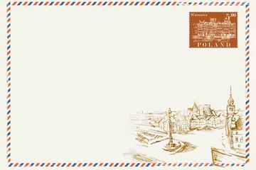 Obraz Kartka pocztowa w stylu vintage - fototapety do salonu