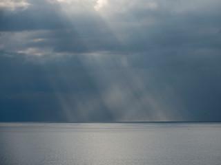 Storm clouds over Fogo Island, Newfoundland.