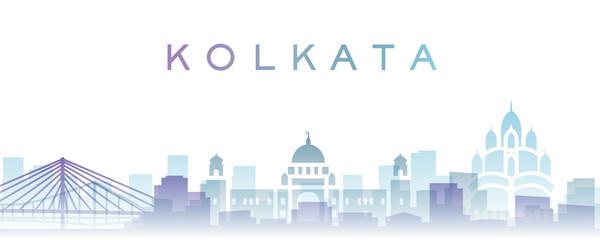 Kolkata Transparent Layers Gradient Landmarks Skyline Papier Peint