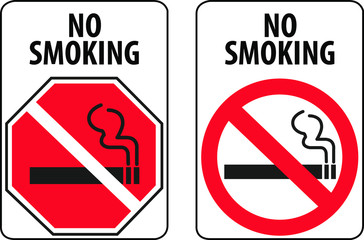 no smoking signs in two different forms