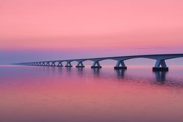 Zeeland Bridge on a warm summer morning