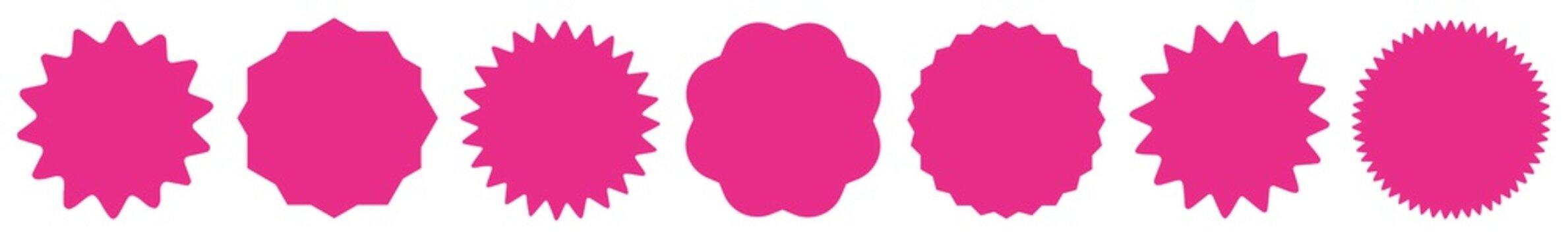 Label Pink | Badge Icon | Price Tag | Sticker | Logo Variations