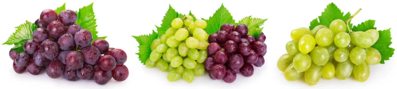 Fresh grape on white background