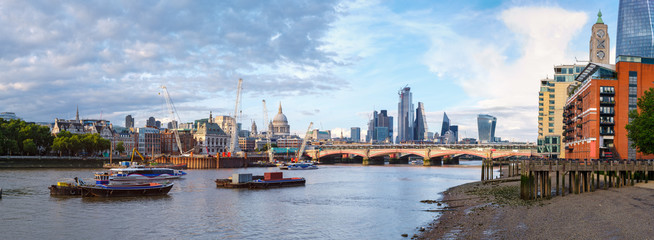 Very high resolution panoramic image of London at sunset