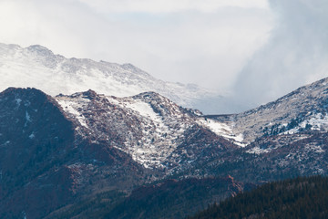 Storm Clouds on Pikes Peak Colorado