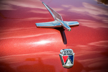 Ford Customline Emblem and Hood Ornament.