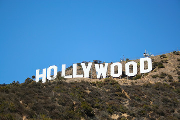 The world famous Hollywood sign in Los Angeles, California.