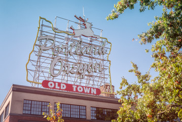 "Originally installed in 1940, the White Stag sign was changed to ""Portland Oregon"" in 2010 and is among the most recognizable landmarks in Portland and all of Oregon."