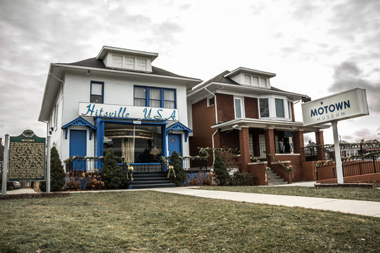 The historic Motown Records building and museum in Detroit, Michigan.