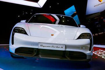 New Porsche Taycan Turbo S sports car
