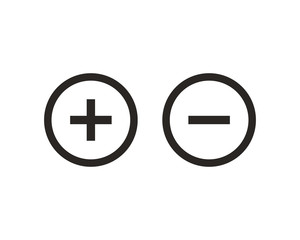 Plus and minus icon symbol vector