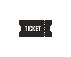 Ticket icon symbol vector
