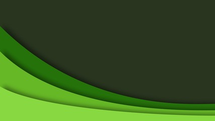 abstract smooth curve simple green color tone scheme background presentation template wallpaper business illustration
