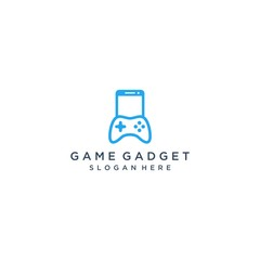 design logo for gaming gadgets or mobile phones with game consoles