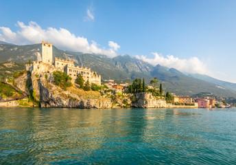 Wall Mural - Malcesine, a small and beautiful village on Garda Lake coast. Veneto, Italy