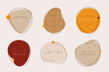 Vector set of abstract creative backgrounds in minimal trendy