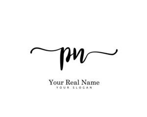 PN Initial beauty monogram logo vector