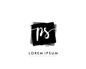 PS Initial beauty monogram logo vector