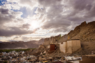 View of Leh at sunset