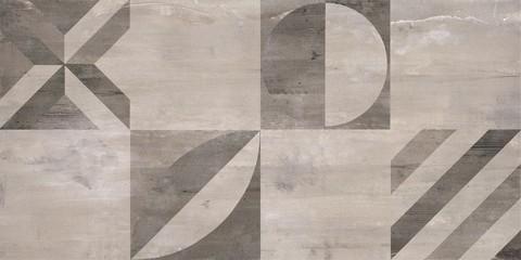 Concrete Stone mosaic tile. Cement background - 293767655
