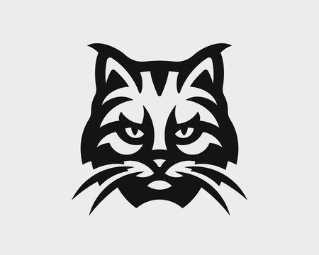 Lynx head logo.  Bobcat emblem design editable for your business. Vector illustration.
