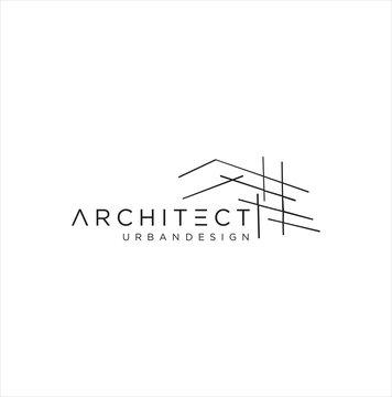 Planning Real Estate, Designing House Logo,  Constructing building, structure, architectural achievement, Urban Design, built environment, architect Home Logo Design Vector Inspiration