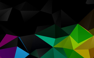 Dark Green vector low poly cover. A sample with polygonal shapes. Brand new style for your business design.