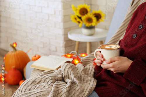 Peachy Top View Of Woman Relaxing On Couch At Home Drinking Latte Dailytribune Chair Design For Home Dailytribuneorg