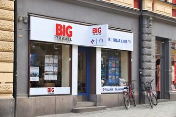 NORRKOPING, SWEDEN - AUGUST 25, 2018: Big Travel agency in Norrkoping, Sweden. There are over 340 travel agency companies in Sweden.