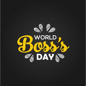 World Boss Day Vector Design Template