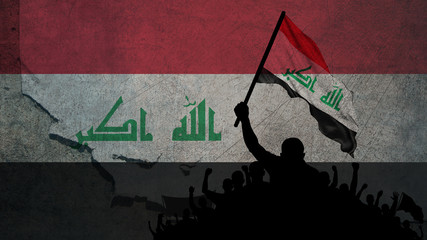 Flag Of Iraq Protests