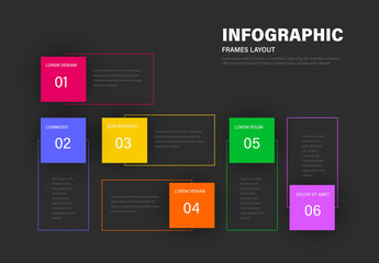 Info Chart Layout with Colorful Frames