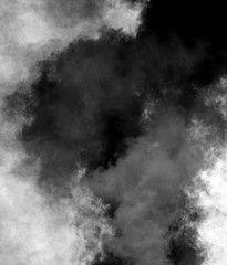 dense black cloud of smoke after the explosion
