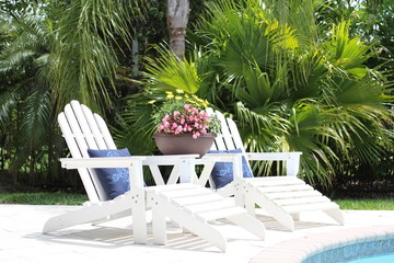 Lounge Chairs in Tropical Setting