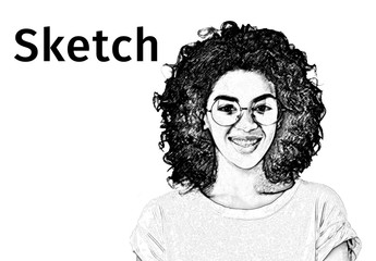 Black and White Sketch Effect Overlay