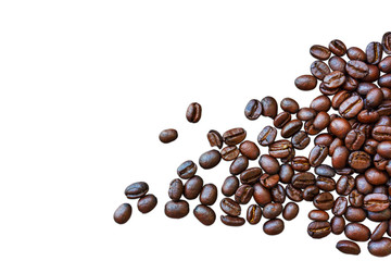 coffee beans isolated on white backgrounds