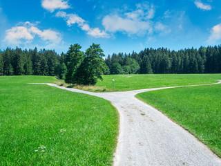 Road fork in Bavaria