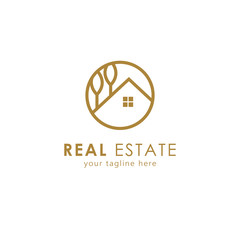 Real estate logo, building logo. This is the perfect logo for real estate agent, apartment, architecture or construction industry. Vector illustration