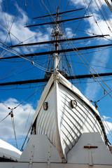 Old sailing ship mast equipment